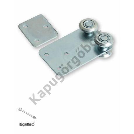 Függesztő görgő, 33x34 mm. sínhez, 4 db. görgővel egyenes