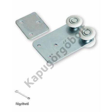 Függesztő görgő 33x34 mm. sínhez, 4 db. műanyag görgővel, egyenes