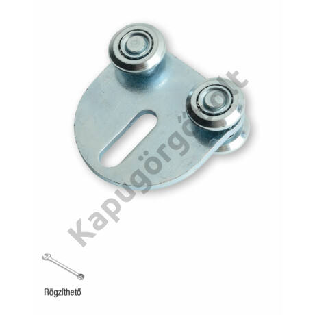 Függesztő görgő 33x34 mm. sínhez, 4 db. görgővel egyenes, íves